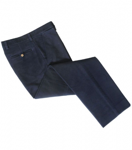 Hoggs of Fife Monarch Moleskin Trousers: Navy